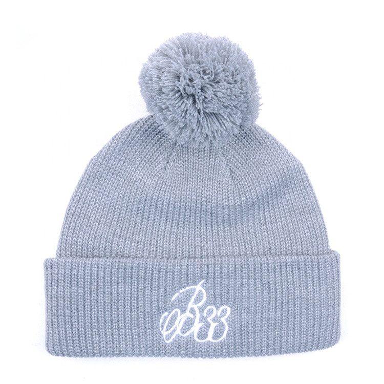 375f13b9d4648 Custom embroidery logo plain knit hat ,Custom pom pom beanie hat ...