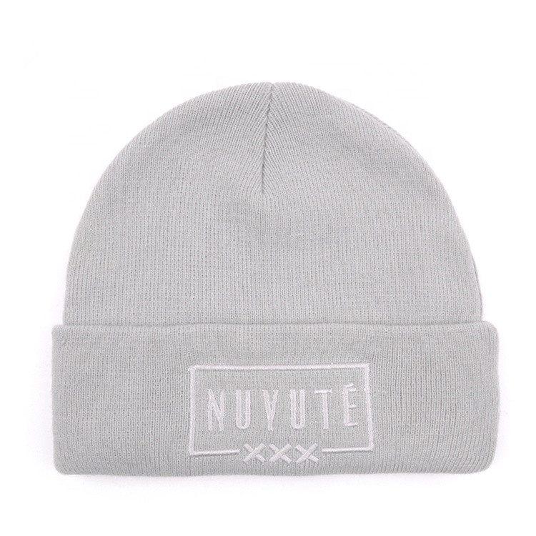 29eefee67ea77 Customized Winter Beanie Hat Knit Acrylic Gray Beanie Hats – Hat ...